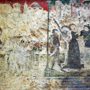 Conques, Abbey-Church of Saint-Foy - fresco