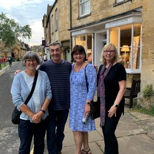 In the Cotswolds with Mindy and Freda